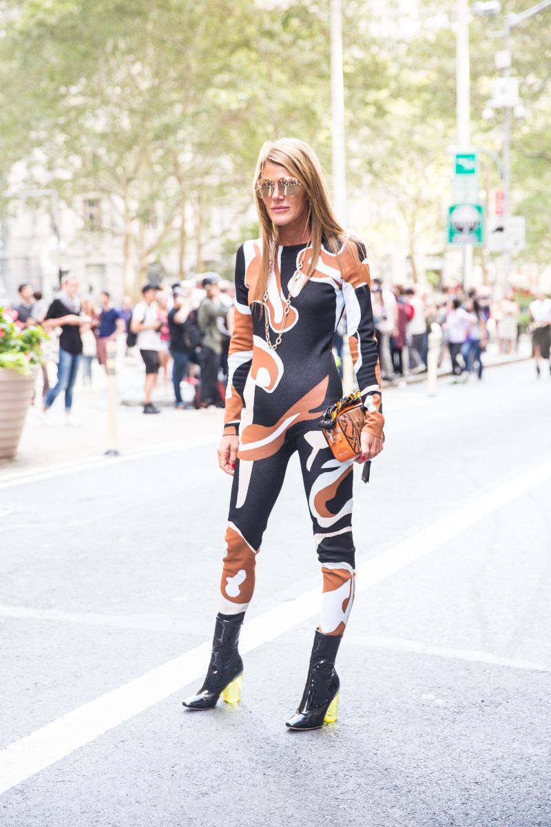 Anna Dello Russo in Dior. Photo: KDV/Fashionista
