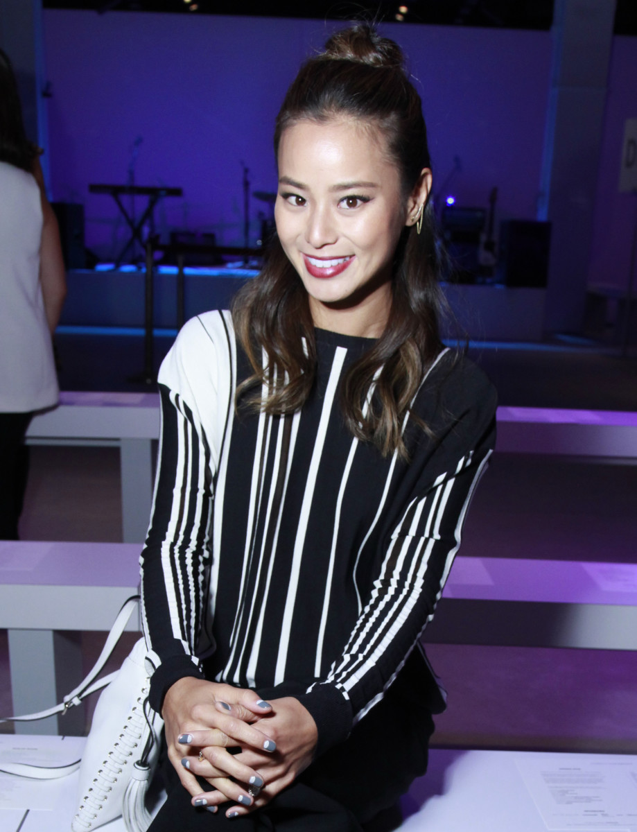 Jamie Chung front row at Rebecca Minkoff. Photo: Rebecca Minkoff