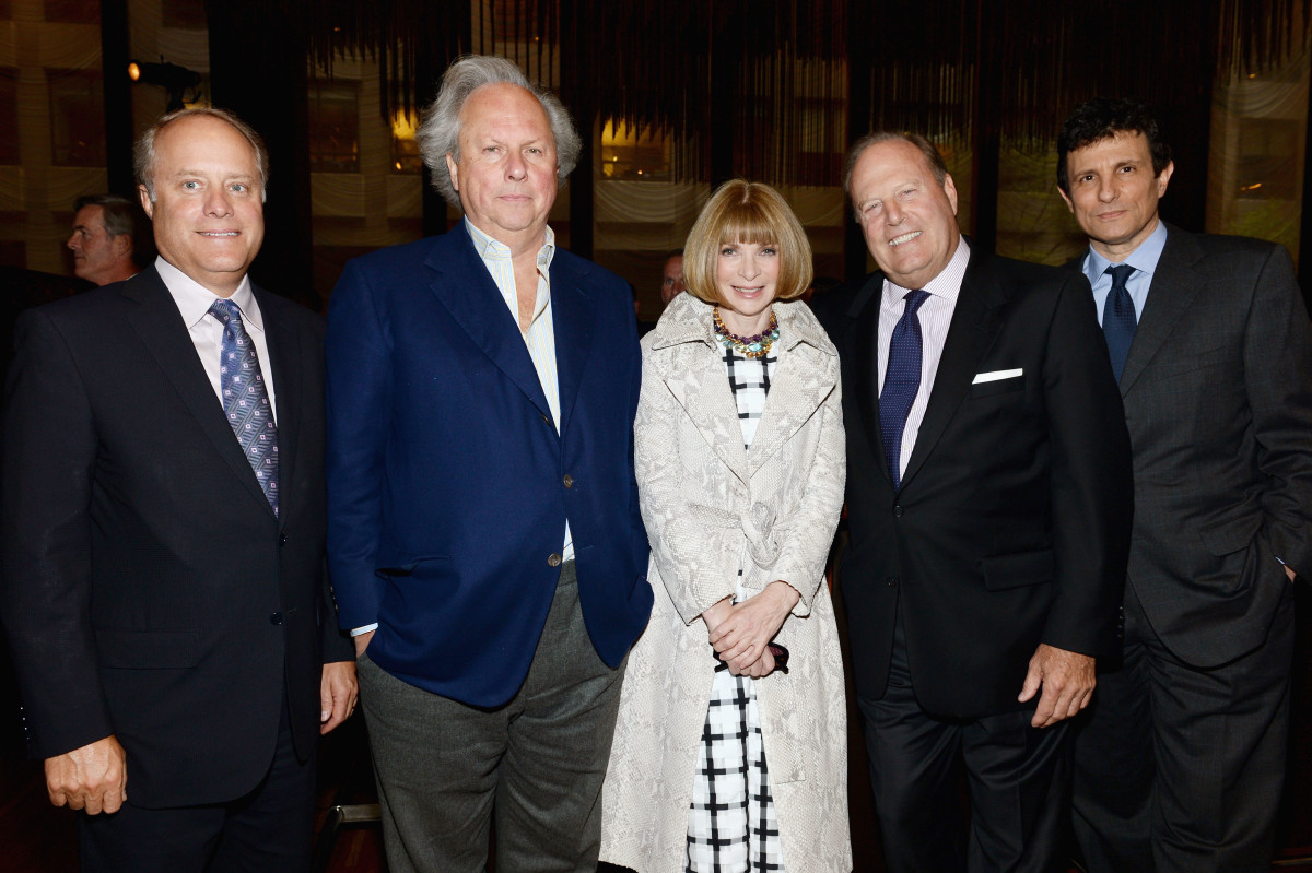 Bob Sauerberg, Vanity Fair's Graydon Carter, Vogue's Anna Wintour, Chuck Townsend and The New Yorker's David Remnick. Photo: Dimitrios Kambouris/Getty Images for Conde Nast