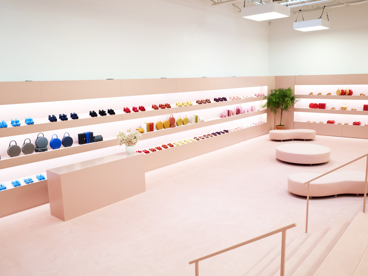 The department store-style presentation for Mansur Gavriel's spring 2016 collection. Photo: Mansur Gavriel