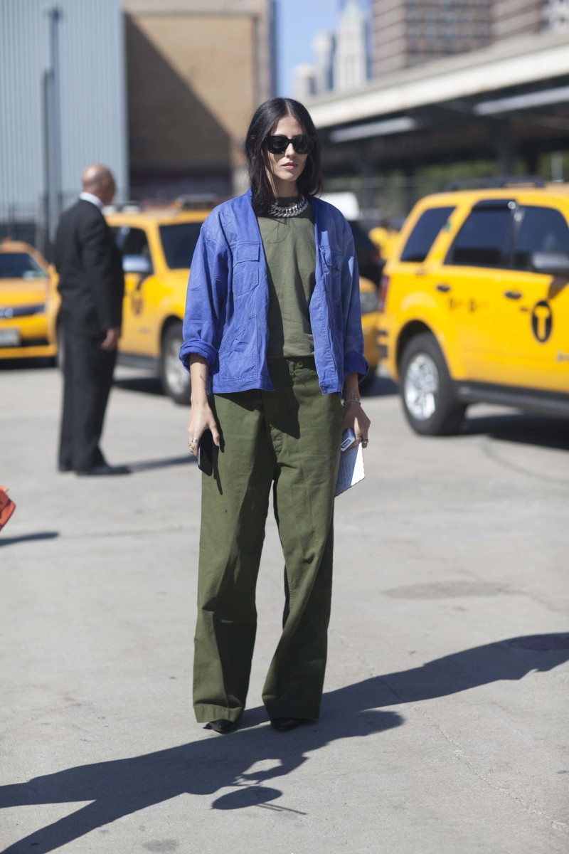 Grazia's Gilda Ambrosio. Photo: Emily Malan/Fashionista