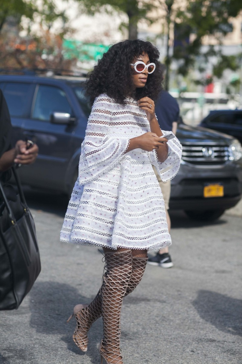 Solange in Zimmermann. Photo: Emily Malan/Fashionista