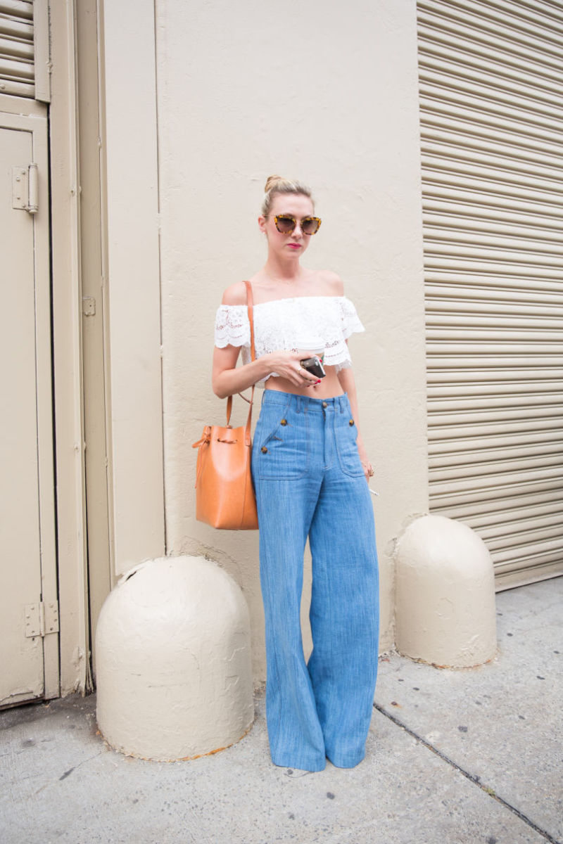 Flared pants, divisive and controversial. Photo: KDV/Fashionista