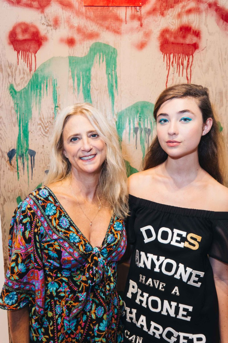 Nanette Lepore and daughter Violet at her spring 2016 presentation party. Photo: Nanette Lepore