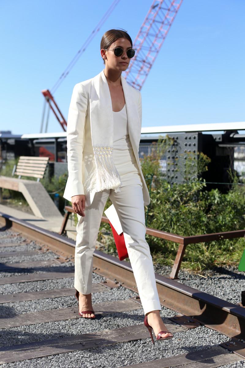 Harper's Bazaar's Amanda Weiner. Photo: Angela Datre/Fashionista