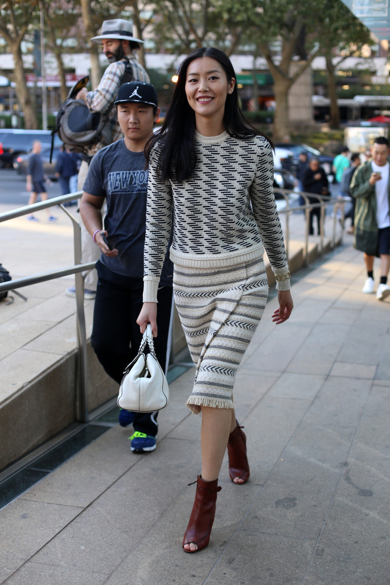 Model Liu Wen. Photo: Angela Datre/Fashionista