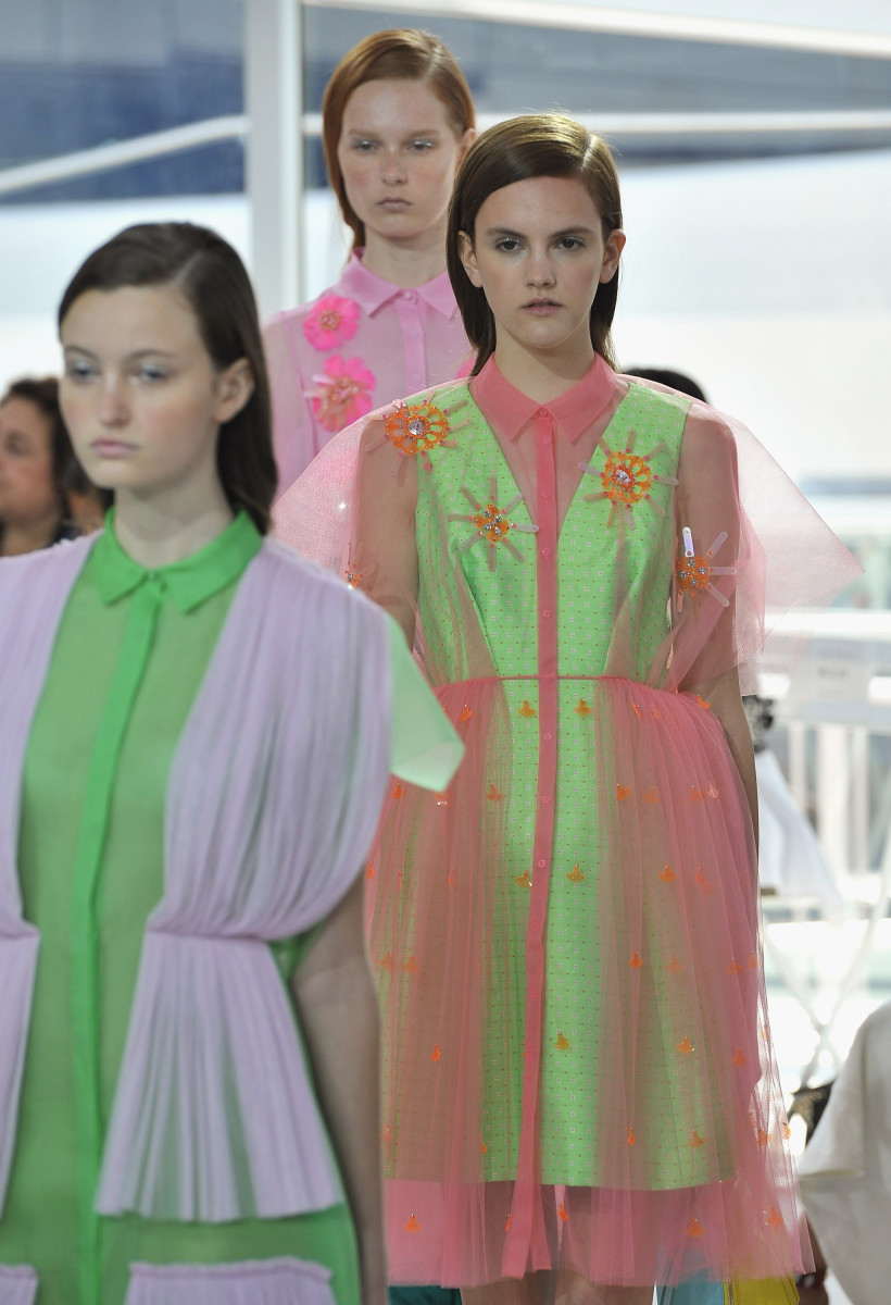 The Delpozo spring 2016 runway show. Photo: Fernando Leon/Getty Images