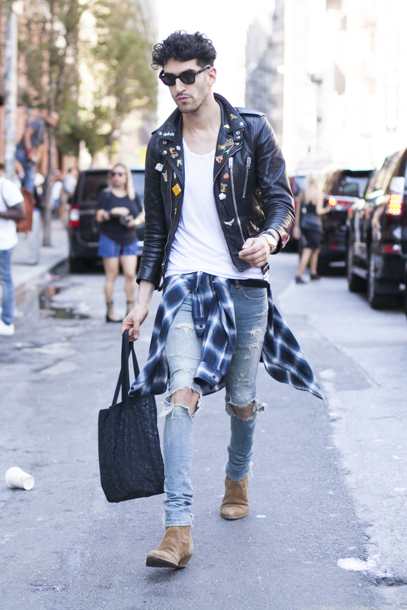 Chromeo's David Macklovitch. Photo: Emily Malan/Fashionista