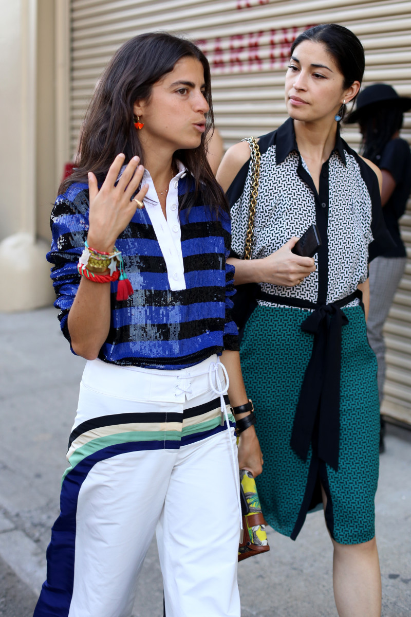 The Man Repeller's Leandra Medine and Caroline Issa. Photo: Angela Datre/Fashionista