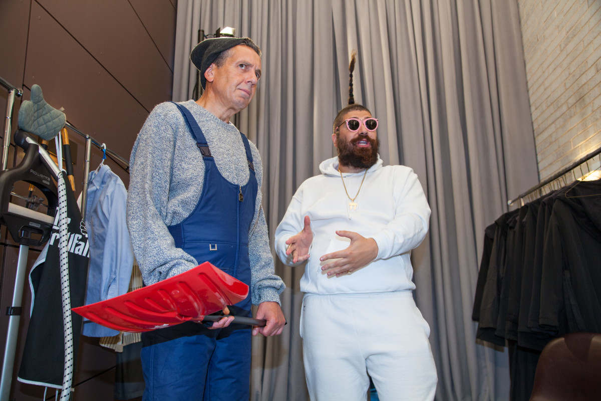 The Fat Jew and one of his models. Photo: kaywaal for SUPERETTE
