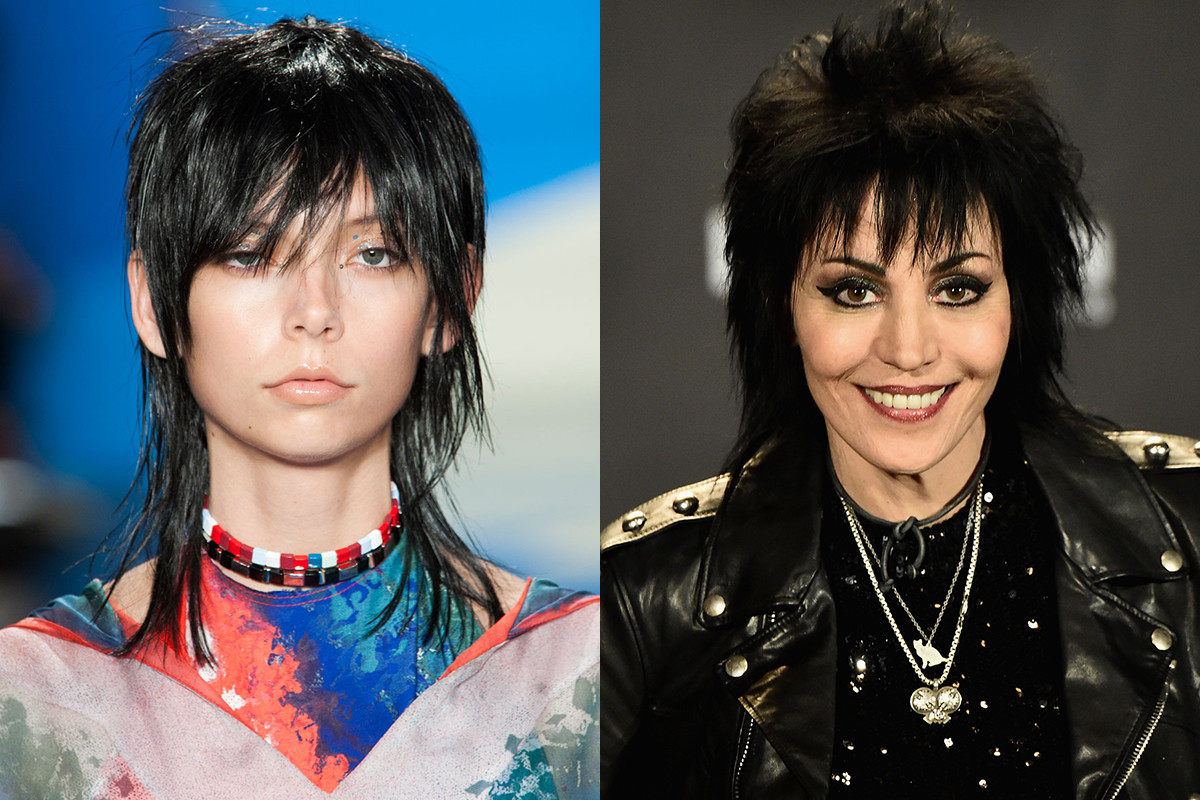 A look from Baja East and Joan Jett. Photos: Imaxtree and Jeff Kravitz for Getty Images