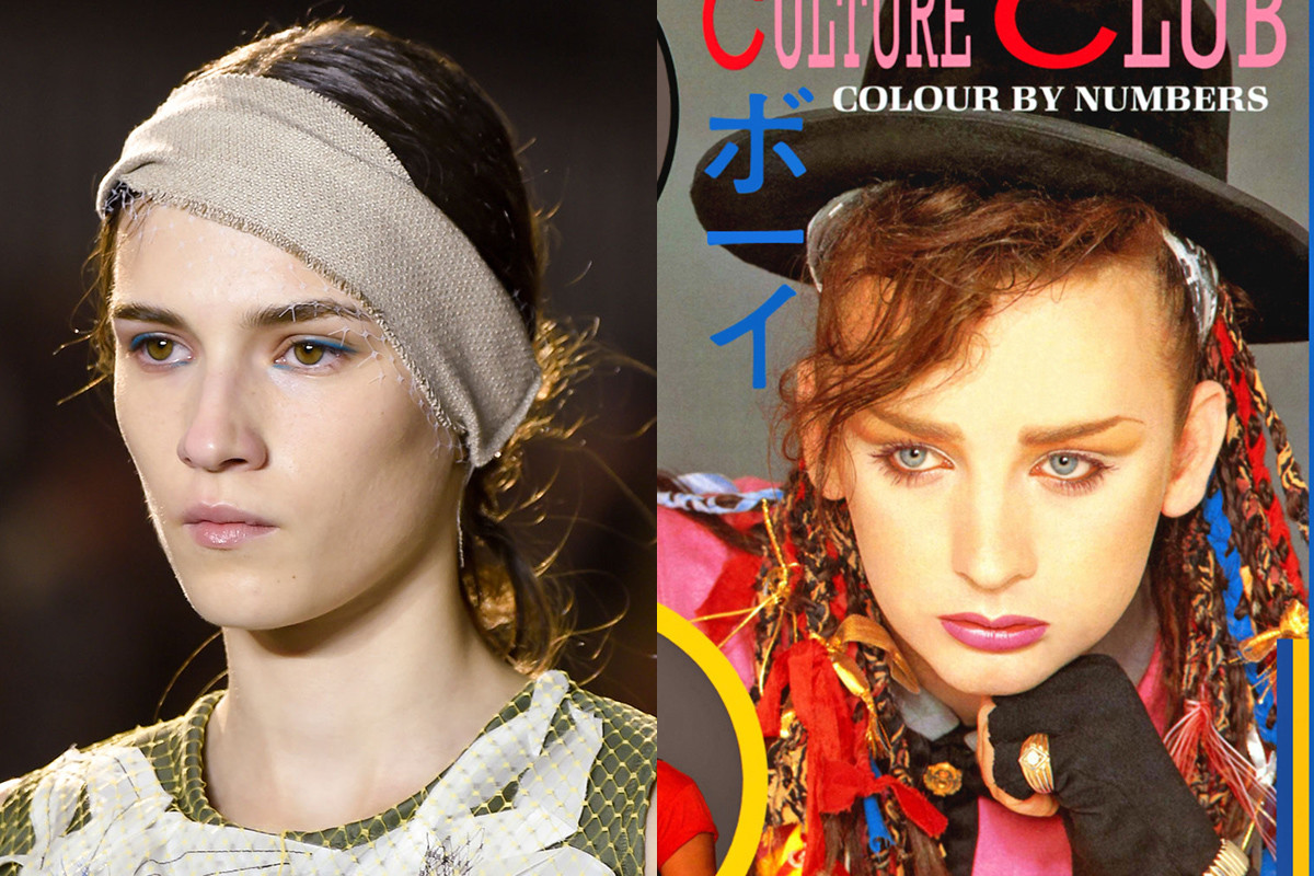 A look from 3.1 Phillip Lim and Boy George. Photos: Imaxtree/album art