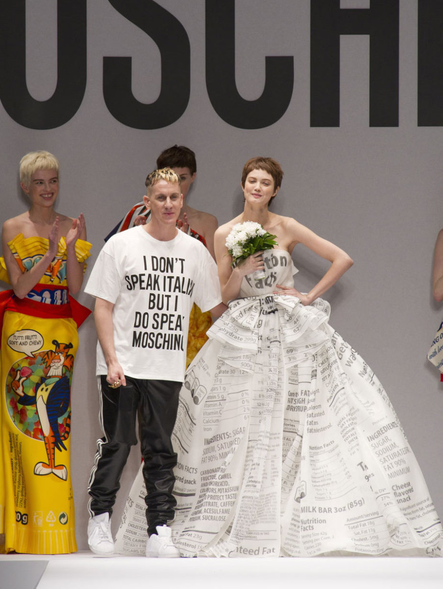 Jeremy Scott after the fall 2014 Moschino runway show. Photo: Imaxtree