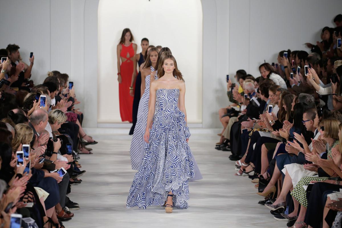 The Ralph Lauren spring 2016 runway show. Photo: JP Yim/Getty Images