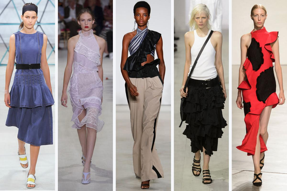From left to right: Suno, Oscar de la Renta, Tome, Michael Kors and Proenza Schouler