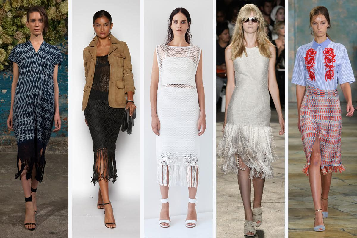 From left to right: Ulla Johnson, Polo Ralph Lauren, Tess Giberson, Christian Siriano, and Tory Burch
