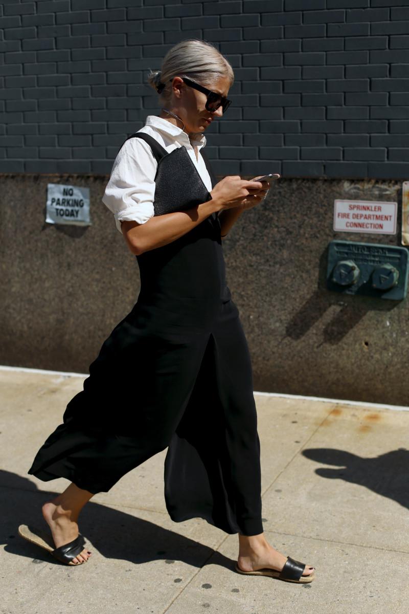 Vogue UK's Fashion Features Director Sarah Harris. Photo: Angela Datre/Fashionista