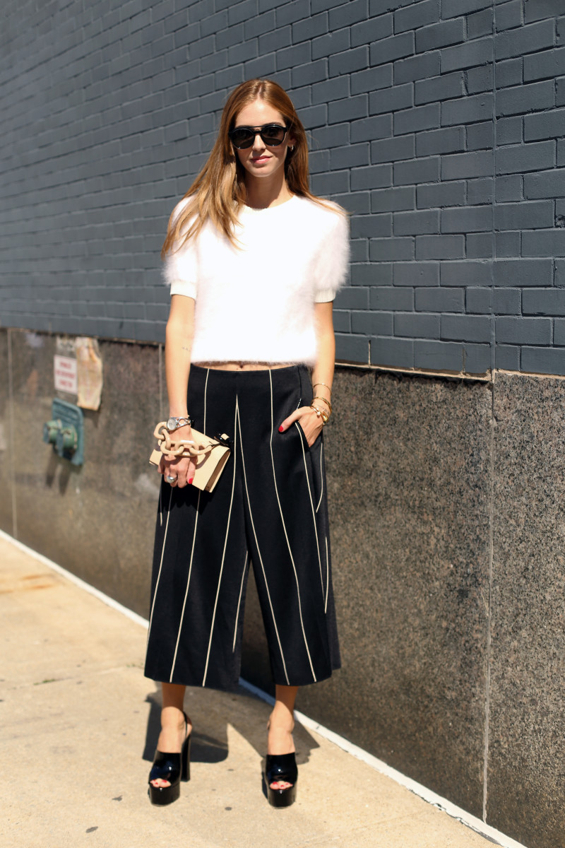Blogger Chiara Ferragni in Calvin Klein. Photo: Angela Datre/Fashionista