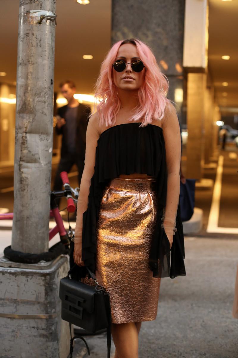Outside the Marc Jacobs show. Photo: Angela Datre/Fashionista