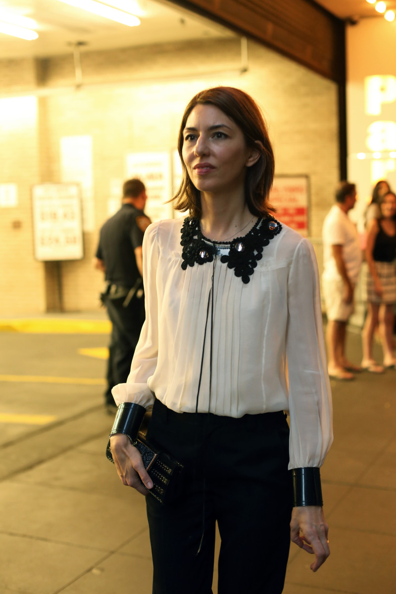 Sofia Coppola outside the Marc Jacobs show. Photo: Angela Datre/Fashionista