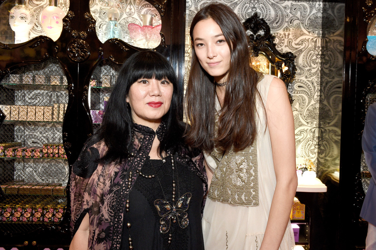 Anna Sui and Tiana Tolstoi. Photo: Anna Sui