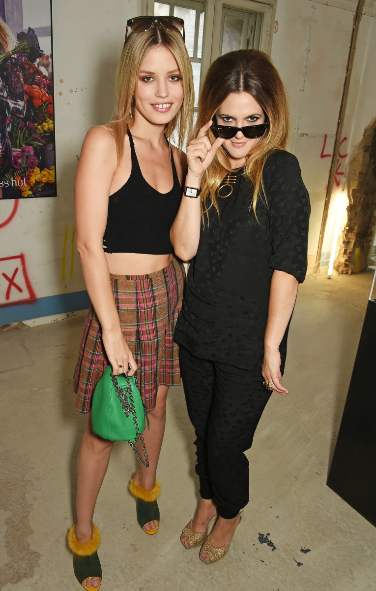 Georgia May Jagger and actress Drew Barrymore. Photo: Sunglass Hut