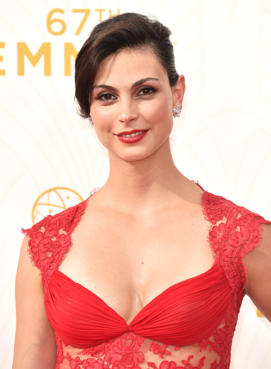 """""""Homeland""""'s Morena Baccarin, dewy, not shiny. Photo: Frazer Harrison/Getty Images"""