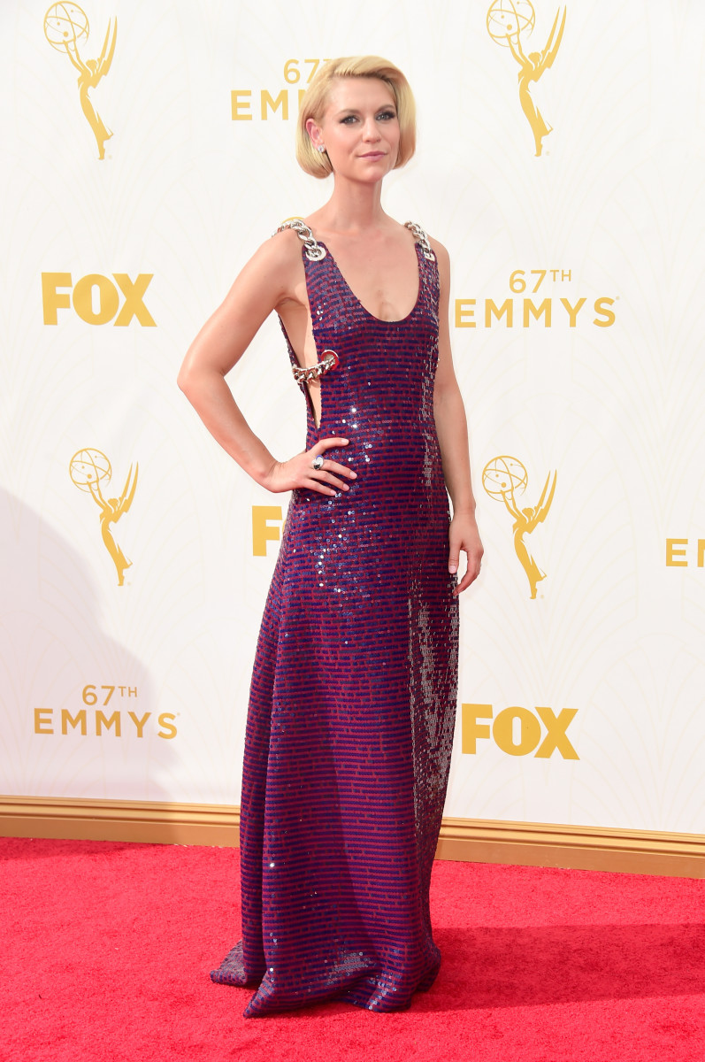 Claire Danes in Prada. Photo: Frazer Harrison/Getty Images