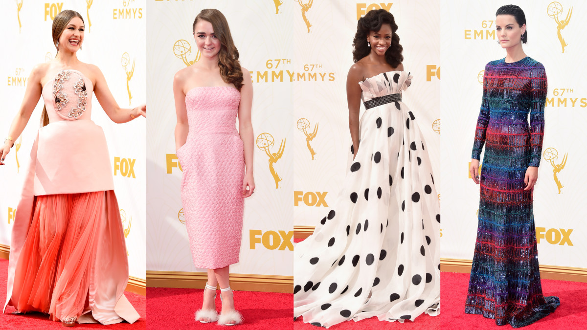 From left to right: Joanna Newsom, Maisie Williams, Teyonah Parris, and Jaimie Alexander. Photos: Frazer Harrison/Getty Images, Larry Busacca/Getty Images, Mark Davis/Getty Images, and Frazer Harrison/Getty Images