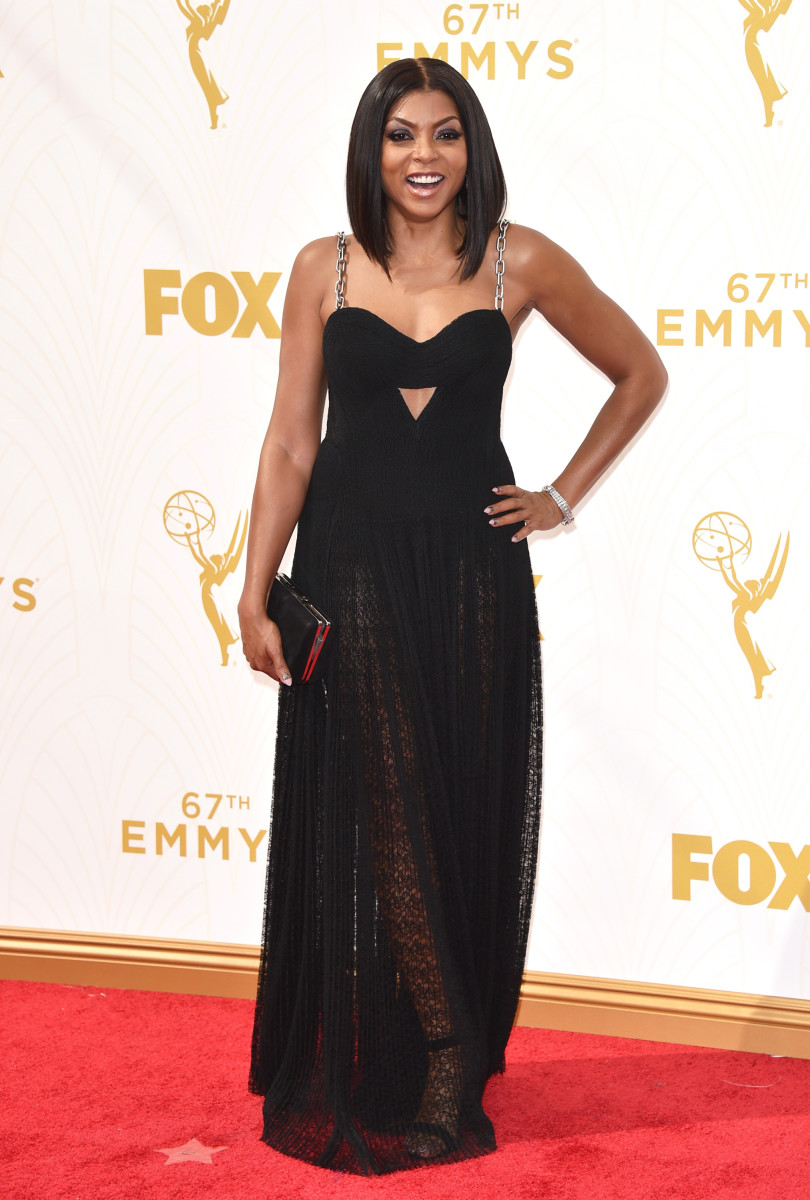 Taraji P. Henson in custom Alexander Wang at the 2015 Emmy Awards. Photo: John Shearer/WireImage