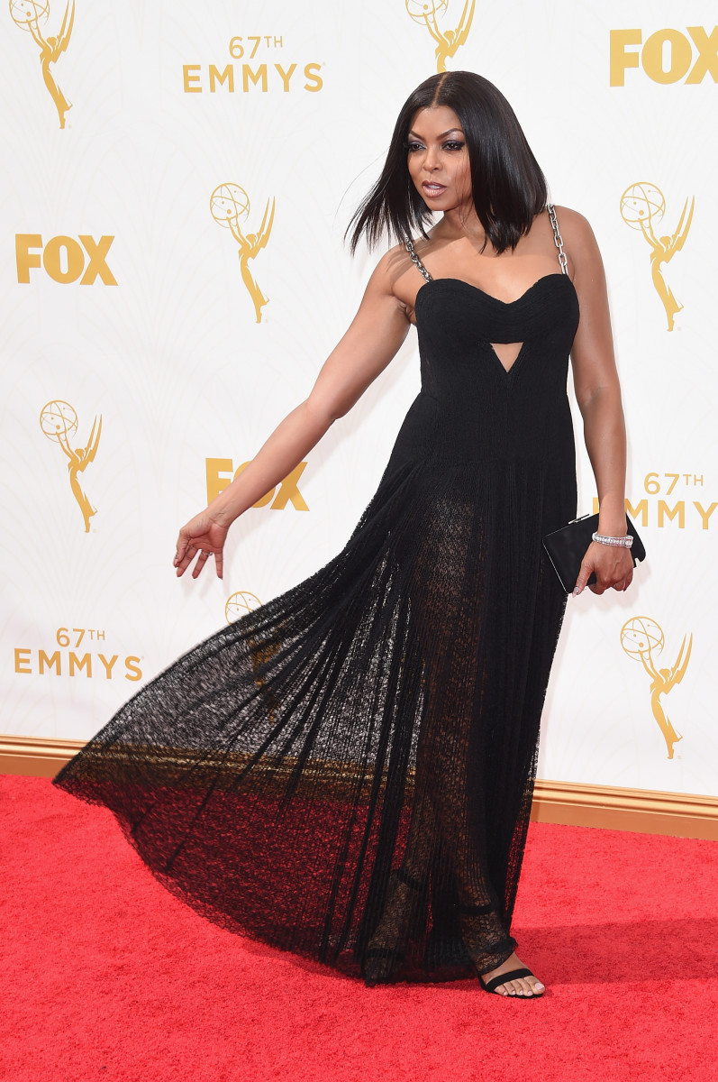 Taraji channeling Cookie on the red carpet. Photo: Jason Merritt/Getty Images