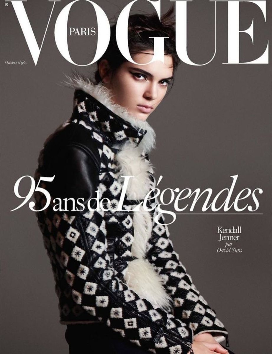 Kendall Jenner on the cover of 'Vogue' Paris's October 2015 issue. Photo: David Sims/'Vogue' Paris