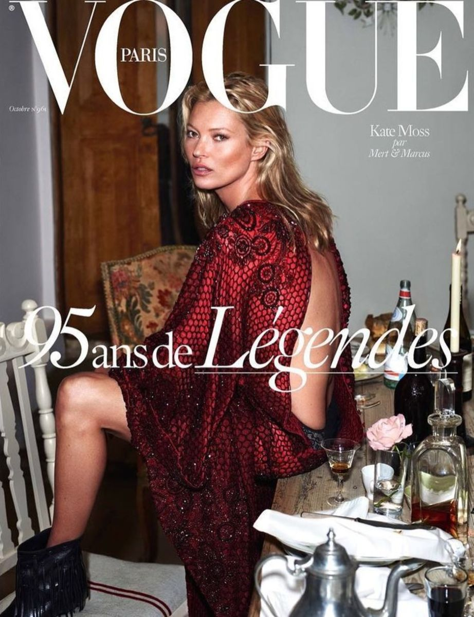 Kate Moss. Photo: Mert Alas and Marcus Piggott/'Vogue' Paris