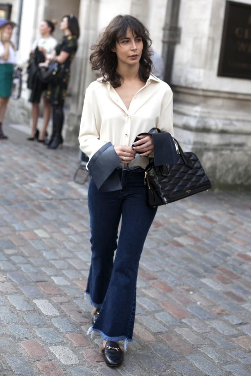 Gucci loafers. Photo: Emily Malan/Fashionista