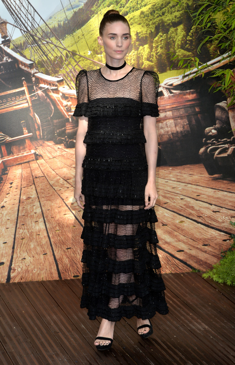 "Rooney Mara in Givenchy Haute Couture at the world premiere of ""Pan"" in London on Sunday.  Photo: Anthony Harvey/Getty Images"