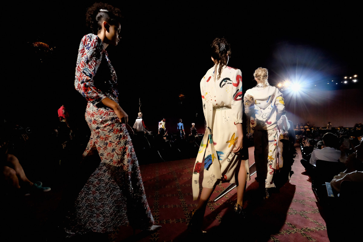 Models on the runway at Marc Jacobs. Photo: Dimitrios Kambouris/Getty Images