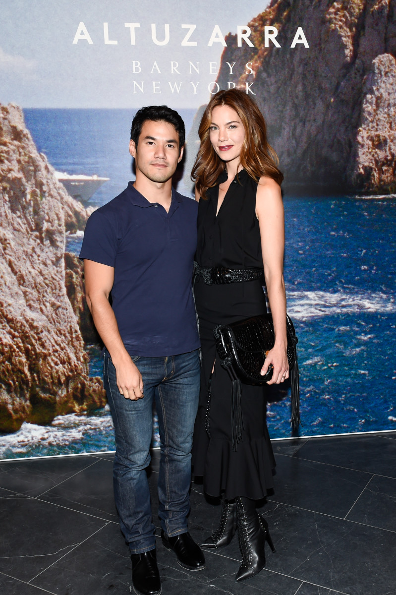 Joseph Altuzarra and Michelle Monaghan. Photo: BFA.com/Neil Rasmus