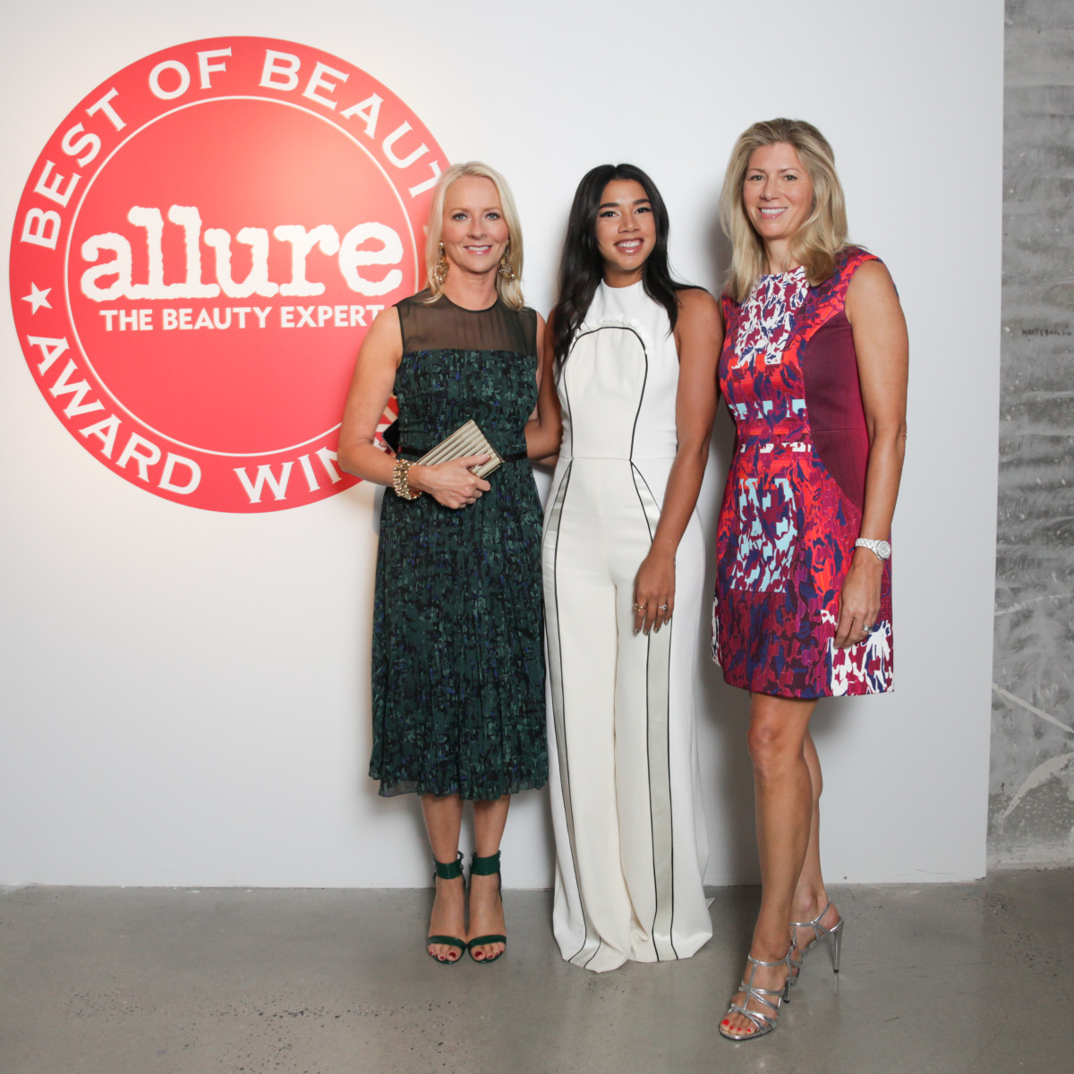 Allure Editor-in-Chief Linda Wells, Hannah Bronfman and Allure Publisher Agnes B. Chapski. Photo: Allure/BFA
