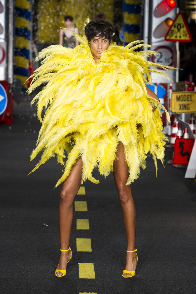 A look from Moschino's spring 2016 collection. Photo: Imaxtree