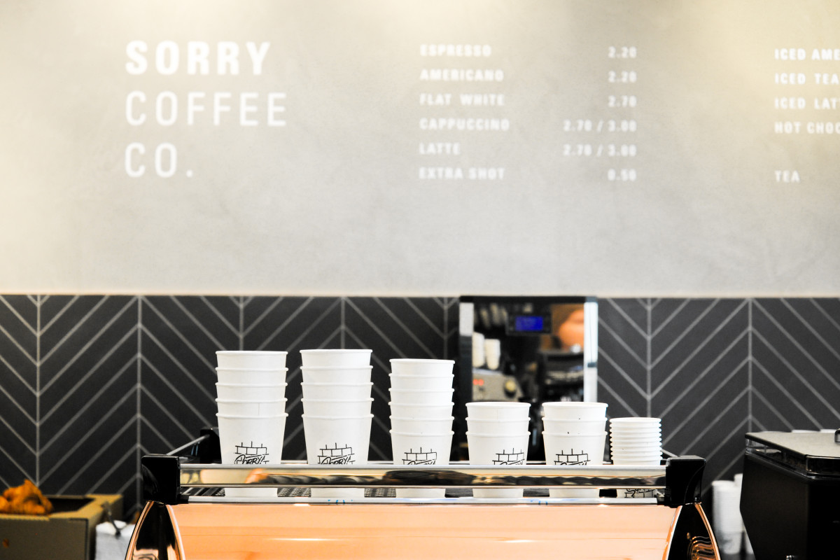The coffee shop in Kit and Ace's Shoreditch store. Photo: Kit and Ace