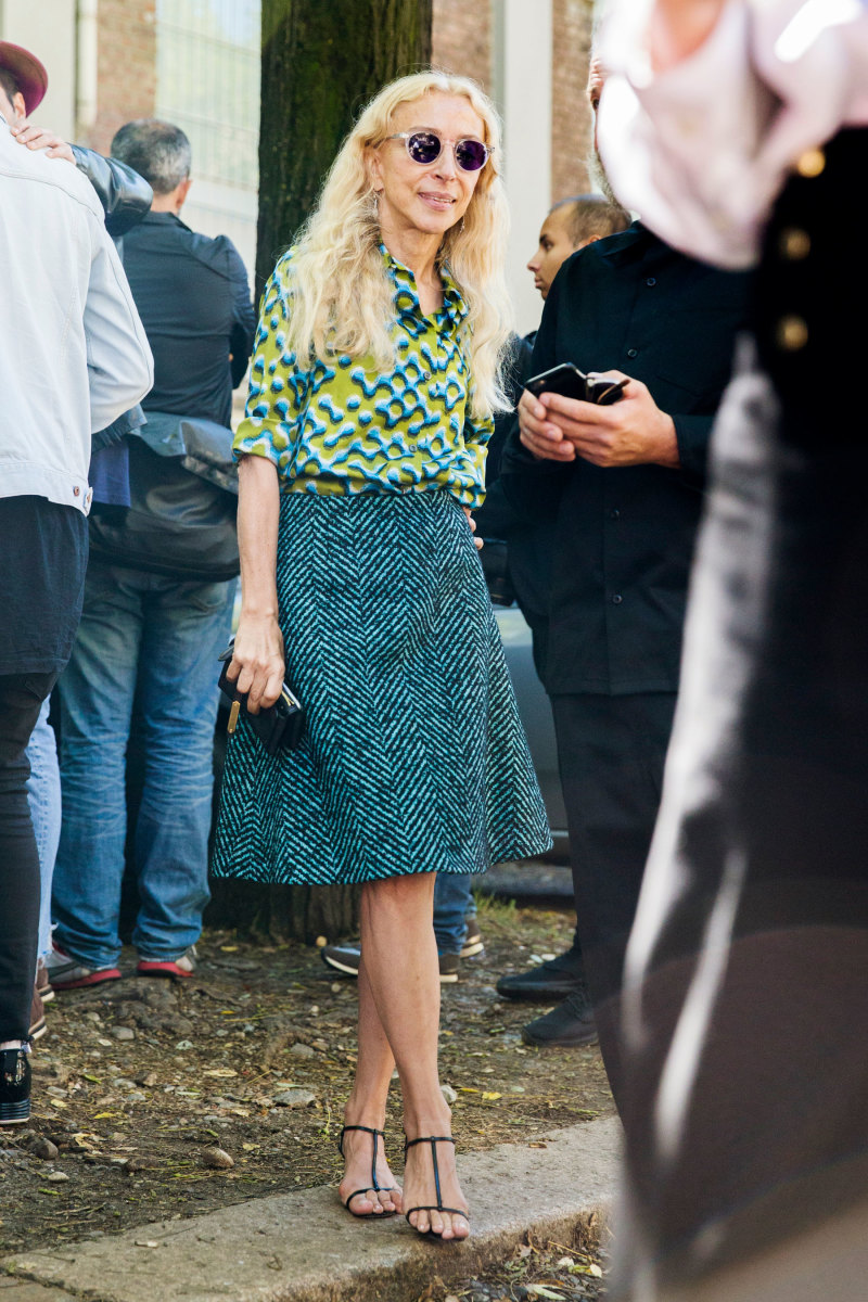 Vogue Italia's Franca Sozzani in Prada. Photo: Imaxtree