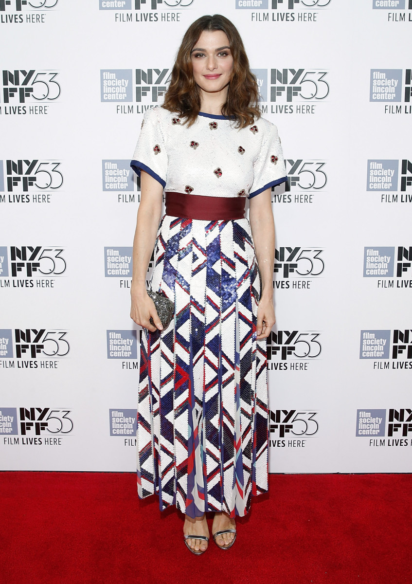 Rachel Weisz in Marc Jacobs at a photo call for the New York Film Festival on Sunday. Photo: John Lamparski/Getty Images