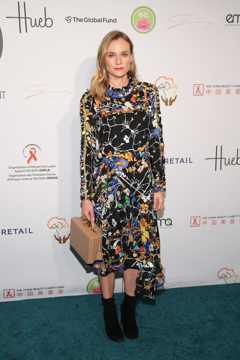 Diane Kruger wearing Preen at the Fashion 4 Development's 5th Annual First Ladies Luncheon in New York City. Photo: Neilson Barnard/Getty Images