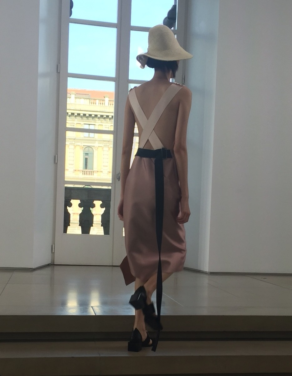 A look from Jil Sander's spring 2016 collection. Photo: Imaxtree