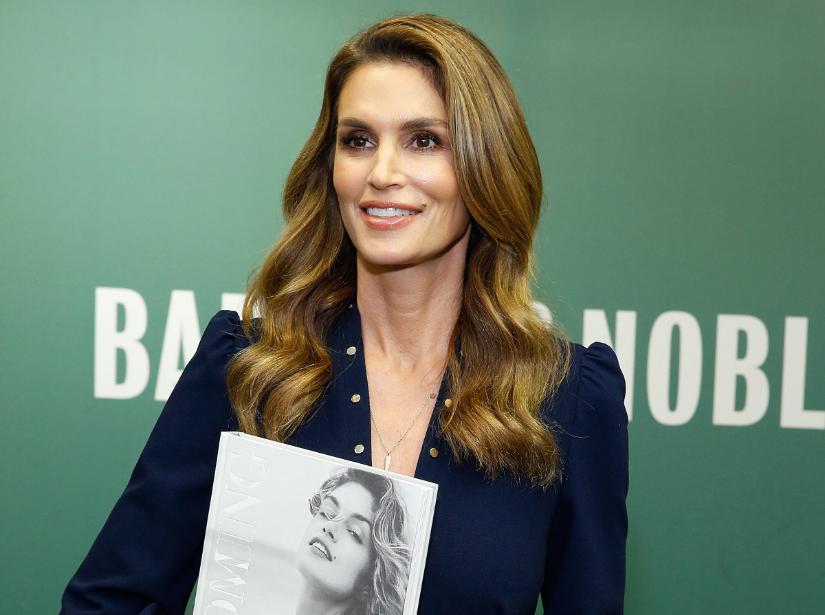 Cindy Crawford and her new book. Photo: John Lamparski/Getty Images