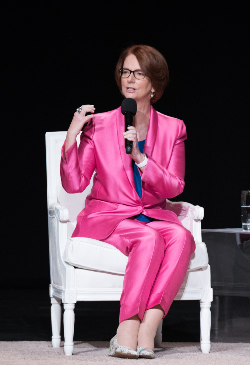 "Former Australian Prime Minister Julia Gillard at ""The Power of an Educated Girl"" event. Photo: Dimitrios Kambouris/Getty Images for Glamour"