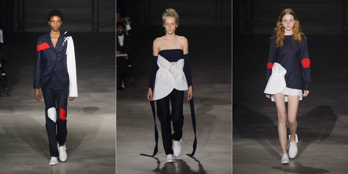 Looks from Jacquemus's spring 2016 collection show. Photos: Imaxtree