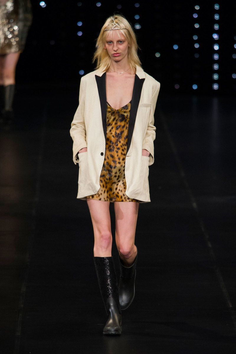 A look from Saint Laurent's spring 2016 collection. Photo: Imaxtree
