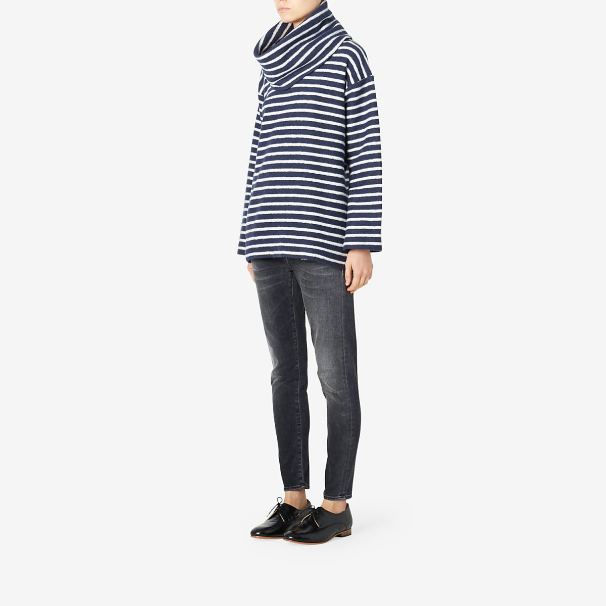 Calder Rani Striped Turtleneck, $198, available at Steven Alan.