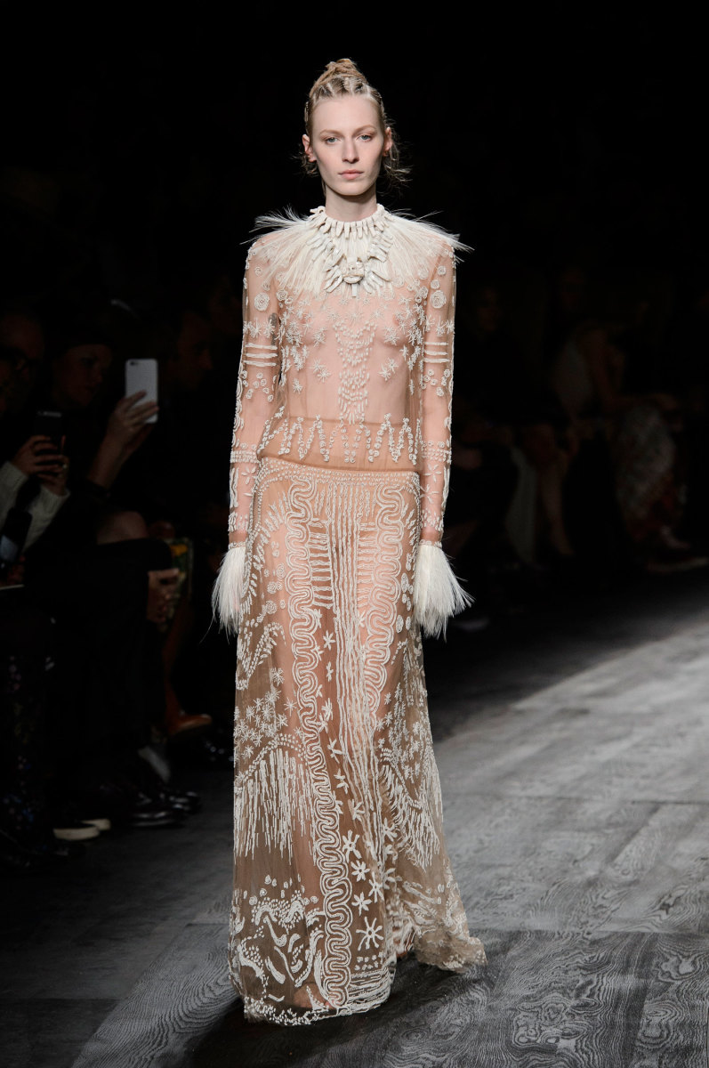 A look from Valentino's spring 2016 runway. Photo: Imaxtree